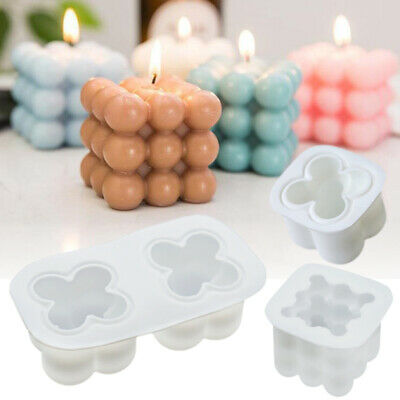 £2.39 • Buy 3D Silicone Candle Moulds Soy Soap Aromatherapy Candles Wax Plaster DIY Mold UK