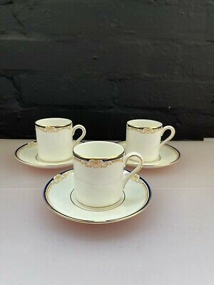 £26.99 • Buy 3 X Wedgwood Cavendish R4680 Coffee Cans / Cups And Saucers Set