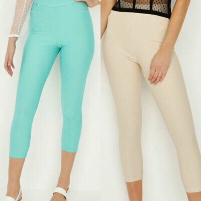 £6.99 • Buy Avon Ladies Womens Summer High Waisted Cropped 3/4 Jeggings Jeans Size 18 20 22
