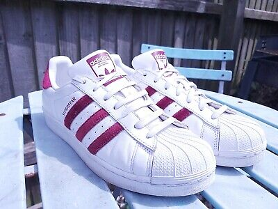 $ CDN51.92 • Buy VGC Mens White & Red Adidas Superstar Trainers Size UK 8 EU 42