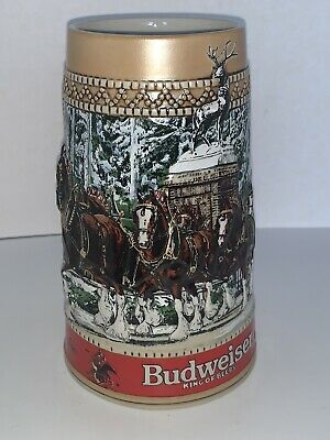 $ CDN28.71 • Buy 1987 Budweiser Clydesdale Collector Holiday Beer Stein  C  Series Anheuser Busch