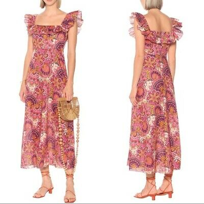 $350 • Buy New ZIMMERMAN Carnaby Floral Linen Dress Sz 1/US 6 Retail $750