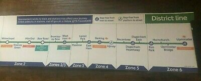 £19.99 • Buy London Underground District Line Map Original Carriage Map