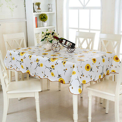 AU8.78 • Buy Oil Proof PVC Table Cloth Cover Home Dining Kitchen Tablecloth Decor SH