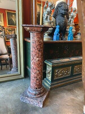 £661.88 • Buy Classical Red Faux Marble Painted Column Pedestal