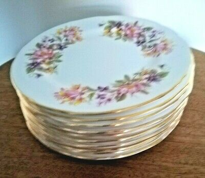 £12 • Buy 10 Colclough China Side / Tea Plate. Wayside Pattern