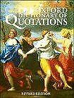£3.49 • Buy The Oxford Dictionary Of Quotations, , Very Good, Hardcover