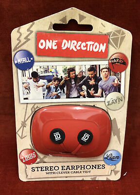 £4.99 • Buy One Direction Stereo Earphones With Clever Cable Tidy By GLOBAL. BNIB