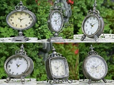£181.76 • Buy Vintage French Style Aged Metallic Table Clocks