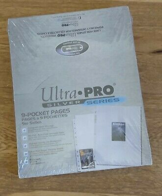 £18 • Buy Ultra Pro 9 Pocket Pages Silver Series Trading Card Sleeves A4 - 100 Pages