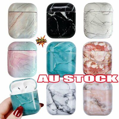 AU2.49 • Buy For Apple AirPods Charging Case Marble Pattern Earphone Cover Case Protector FZ