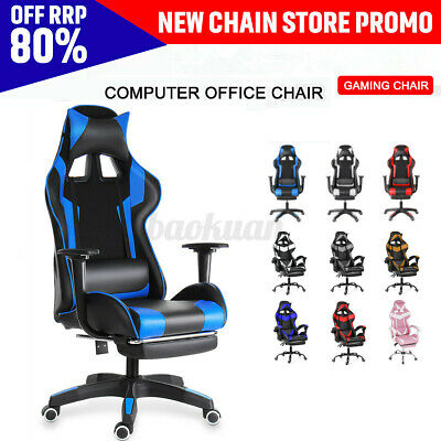 AU120.99 • Buy Gaming Chair Executive Office Chair Computer Desk Seating Swivel Leather Chairs