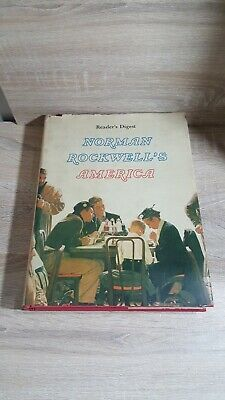 $ CDN50.34 • Buy Norman Rockwell's America Hardcover Book-Illustrated-1976-Color Coffee Table Ed.