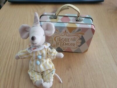 $75 • Buy Maileg Circus Clown Mouse In Suitcase 2018 Design - Recently Retired