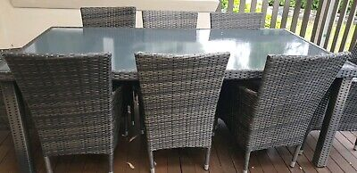 AU570 • Buy Outdoor Wicker 8 Seats Dining Setting Furniture