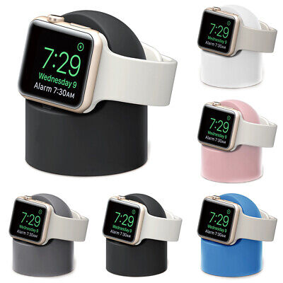 AU17.39 • Buy Silicone Charging Dock Stand Station Charger Holder For Apple Watch Series 4321~