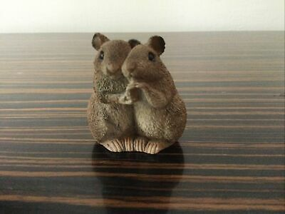 """£3.40 • Buy Cute Figure Of A Mouse Couple - Small Approx..2"""" Tall"""