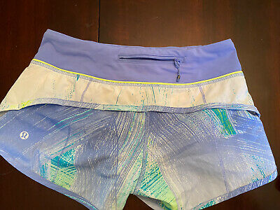 $ CDN37.99 • Buy Lululemon Speed Short Size 2 Wind Chill White Lullaby Ray 2.5in Lined Rare🦄