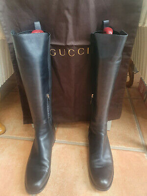 £450 • Buy Gucci Boots Black Leather Size 39