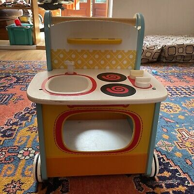 £10 • Buy ELC Wooden Kitchen Push Along Walker Baby Toddler Toy Collection Only West Hamps