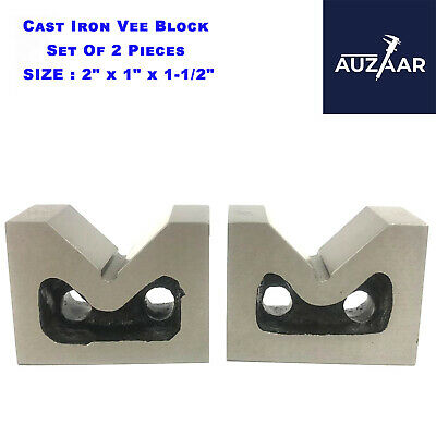 £19.99 • Buy Cast Iron VEE BLOCKS Set Of 2 Pcs 50mm 2  Inch Precision V Block Without Clamp