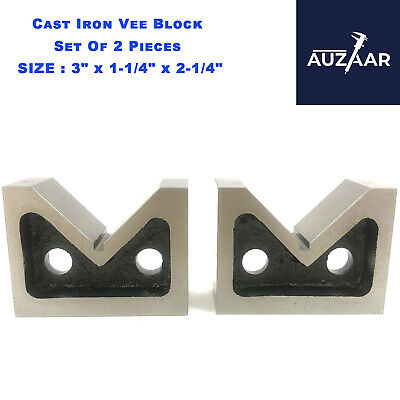 £25.99 • Buy Cast Iron VEE BLOCKS Set Of 2 Pcs 75mm 3  Inch Precision V Block Without Clamp