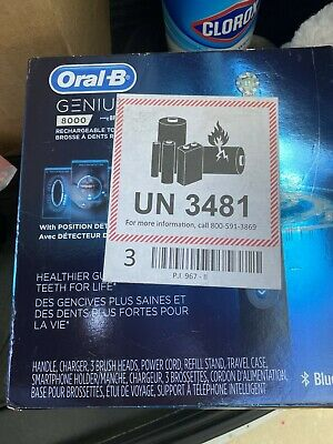 AU129.07 • Buy Oral-B Genius 8000 Midnight Black Rechargeable Toothbrush *NEW*