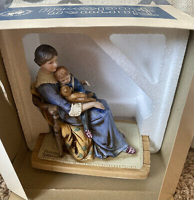 $ CDN18.66 • Buy Norman Rockwell Figurine Bedtime 1979 Woman Mom Child  With Coa And Box