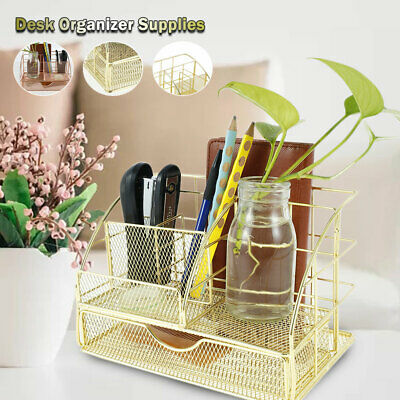 £13.99 • Buy Desk Organiser Pencil Tray Tidy Pen Holder Stationery Container Storage Office C