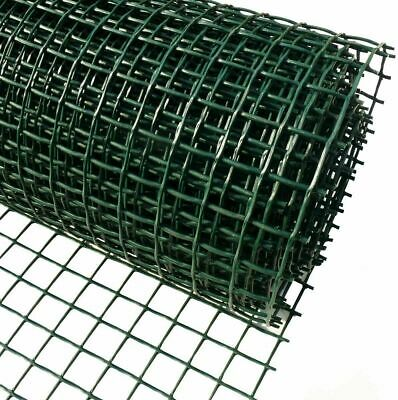 £23.99 • Buy PVC Coated Green Chicken Rabbit Wire 10M X 0.9M Mesh 13mm Aviary Fencing Garden