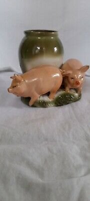 £19.99 • Buy Antique German Pigs Fairing  2 X Piglets And Match Holder