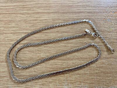 £9.99 • Buy  Gold Plated Snake? Flat Link  24.5   Chain Necklace