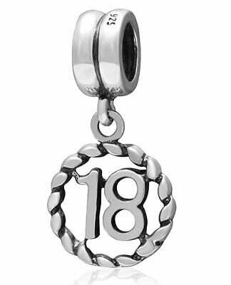 £7.95 • Buy 18 Charm Bead 925 Silver - 18th Happy Birthday Gift For Sister Daughter