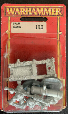 £35 • Buy Warhammer Metal Dwarf Cannon In Blister Oldhammer 1997