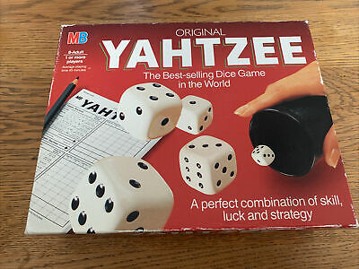 £6.50 • Buy MB Games Vintage 1982 Original Yahtzee Dice Game Complete In Good Condition.