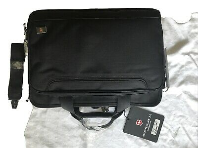£46.75 • Buy Victorinox Swiss Army Trevi Fast Pass Bag Black Architecture 2.0 Laptop Brief