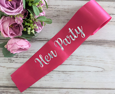 £3.99 • Buy  Personalised Sash For Hen Party Bridal Bride To Be Wedding Baby Shower