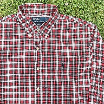 £19.99 • Buy Mens Polo Ralph Lauren Shirt Size Extra Large ( Check Gingham Flannel Top T XL )