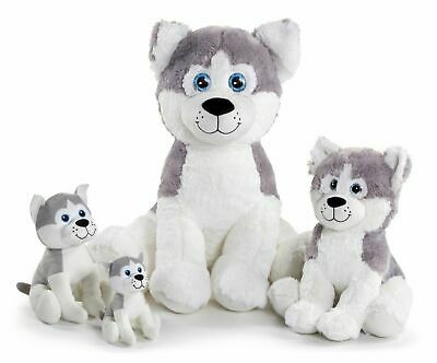 £11.99 • Buy PLUSH MUSH THE HUSKY DOG TEDDY SOFT TOY WOLF CANINE ANIMAL LARGE Or SMALL NEW