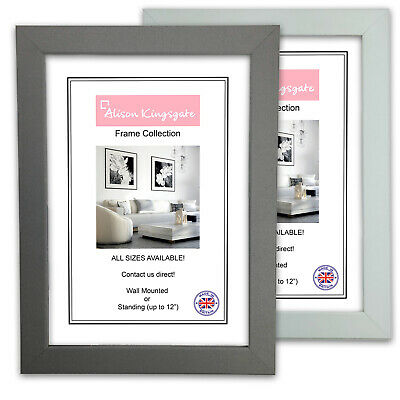 £3.30 • Buy Grey Picture Frames Modern Home Photo Hanging Mounting Poster Frame A1 A2 A3 A4
