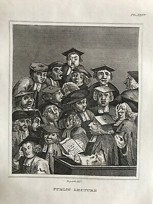 £6.99 • Buy 1736 (1860) Antique Print; Oxford Lecture By Hogarth