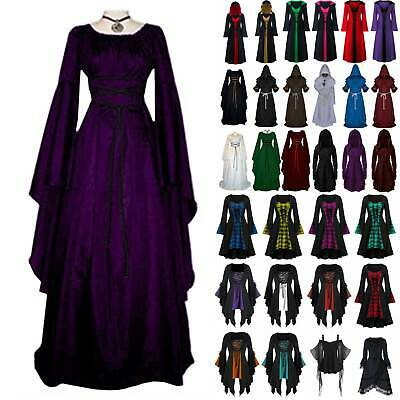 AU24.89 • Buy Womens Halloween Dress Renaissance Medieval Victorian Cosplay Gothic Witch Party