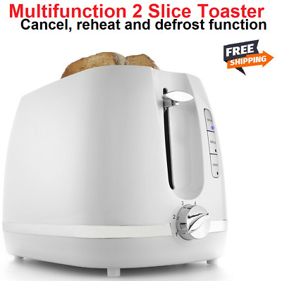AU21.90 • Buy Toaster 2 Slice Electric Automatic Crumb Tray Defrost Reheat Toasting Muffin