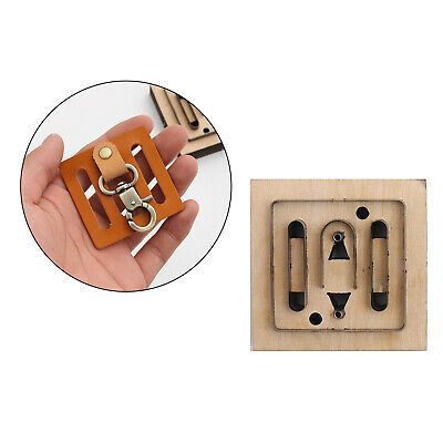 £7.63 • Buy DIY Leather Craft Cutting Die Hollow Mold Punch Tool Template Keychain