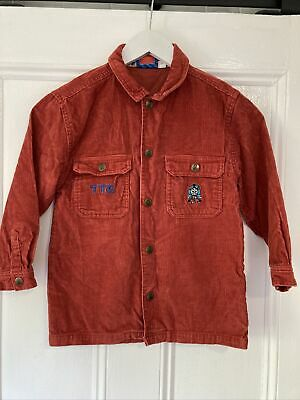 £10.17 • Buy Retro Target Kids Size 6 Thomas The Tank Engine Red Corduroy Jacket With Pockets