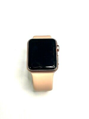 $ CDN91.88 • Buy Apple Watch Series 1 38mm Rose Gold Pink Sport Band Smartwatch SCRATCHED