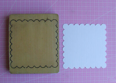 £6.50 • Buy Cross Cuts Wooden Die - Scalloped Square 4  Used