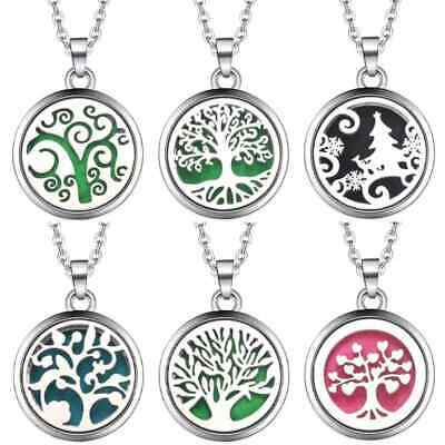 AU10.93 • Buy Stainless Steel Aromatherapy Essential Oil Diffuser Locket Necklace 2.5 X 2.5