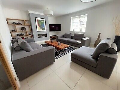 £2500 • Buy CAMERICH Casa Modular Sofa Sections X 5 - Graphite Fabric RRP £3700 Exc Cond