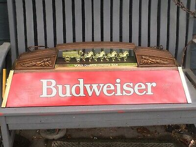 $ CDN522.42 • Buy Vintage Budweiser Pool Table Light With World's Champion Clydesdale Team